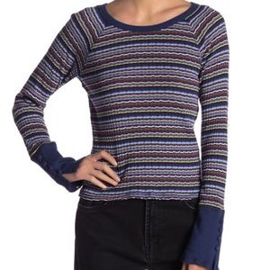 FREE PEOPLE STRIPED TOP NEW
